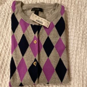 J. Crew cardigan with front pattern